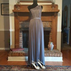 Steel Grey bridesmaid/prom dress